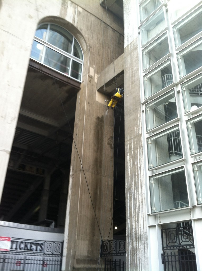 OSU Stadium Powerwash by Columbus, Ohio window washer Guediel from Globe Window Cleaning