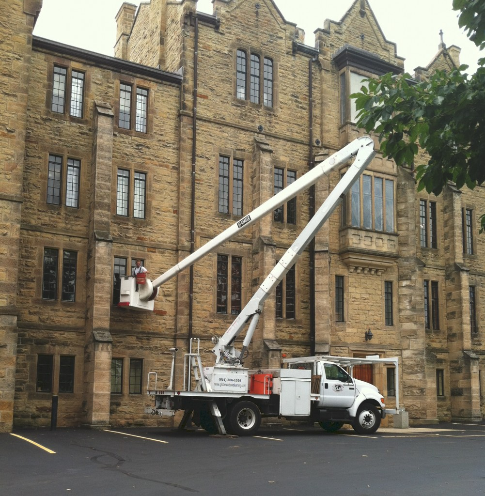Columbus, Ohio window cleaners, cleaning college and university windows