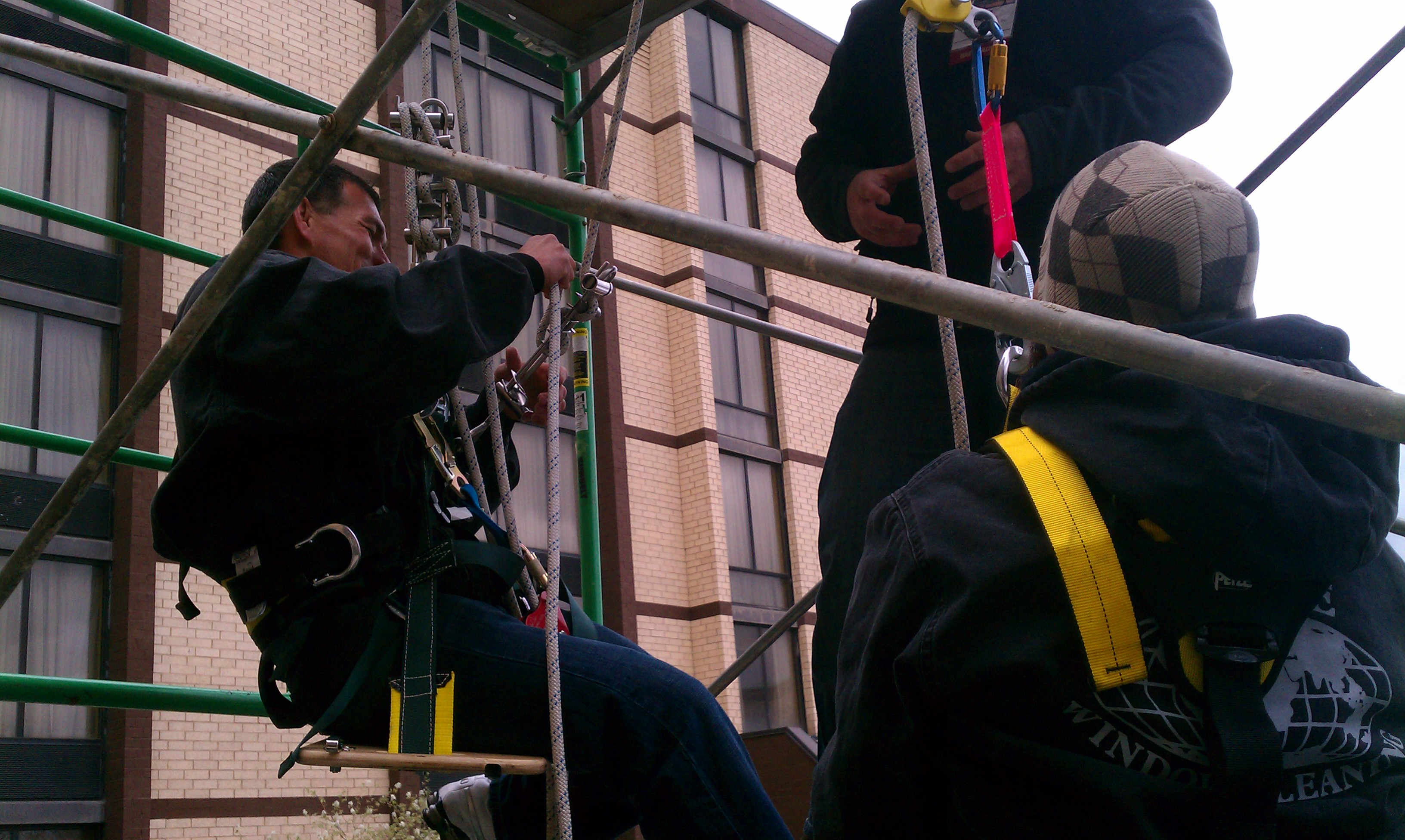 Globe Window Cleaning employees safety training at IWCA in Columbus, Ohio